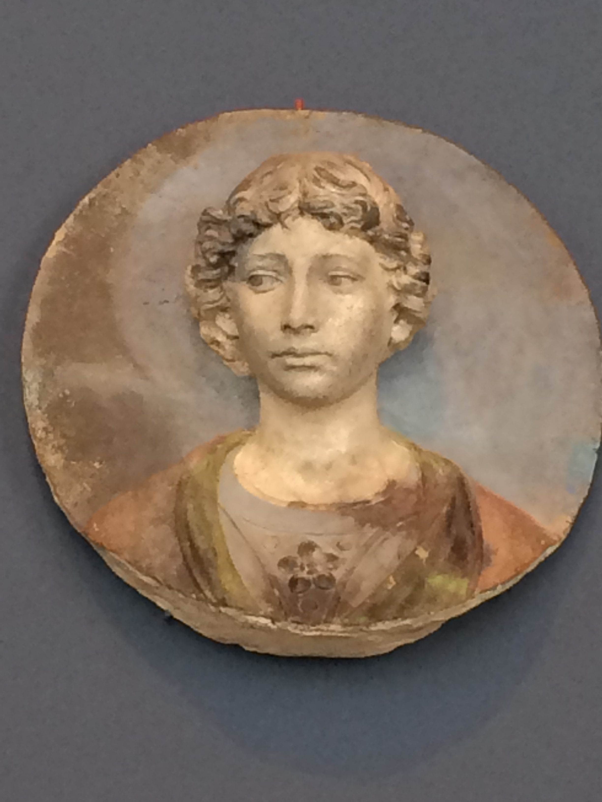 Bode-Museum, Berlin, della Robbia, face, art, painting, fresco, round, circle, doubt, expression