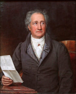 painting writer poet portrait Goethe German