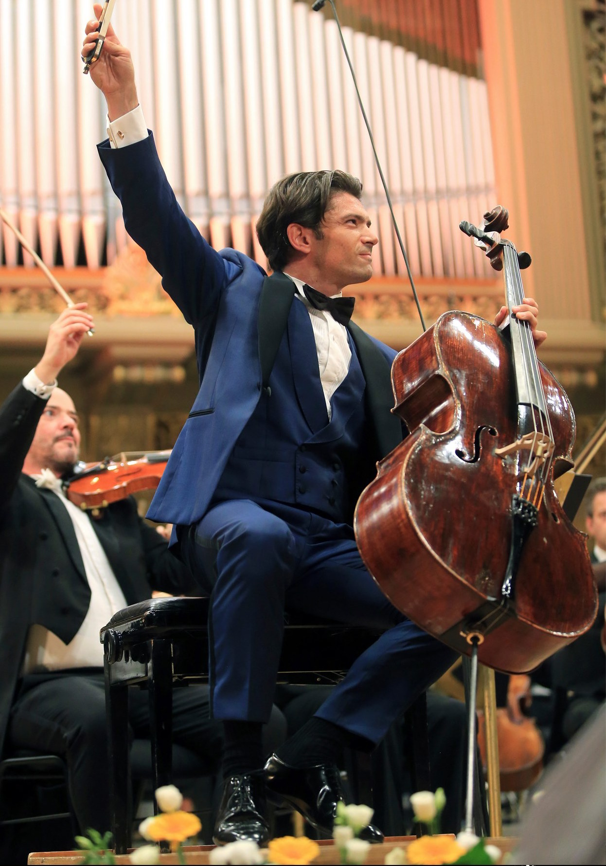 Capucon cellist French classical music live performance Enescu Festival Bucharest stage