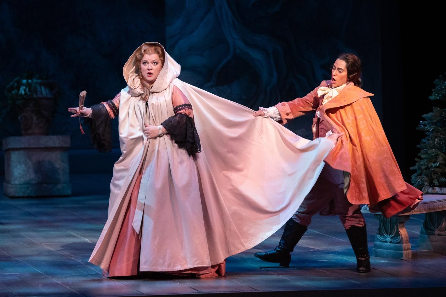 stage opera classical performance Mozart Florida Petrova soprano singing costumes