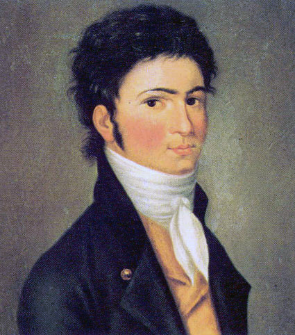 Beethoven, portrait, composer, young, German, Riedel, painting