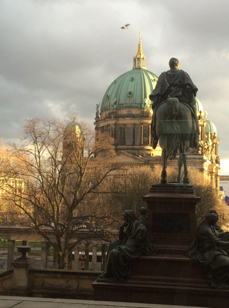 Berlin, cathedral, dome, view, perspective, city, Germany, Berliner Dom