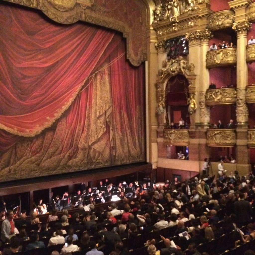 Paris, Palais Garnier, opera, France, art, auditorium, Chagall, culture, history, curtain, red