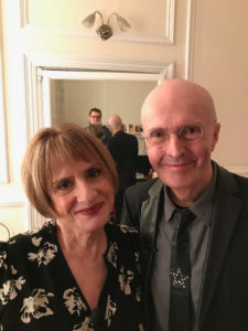 Edward Seckerson, music, writer, British, broadcaster, classical, musical theatre, interviewer, Patti LuPone, backstage, Theatre Royal Haymarket, conversation, artist, theatre