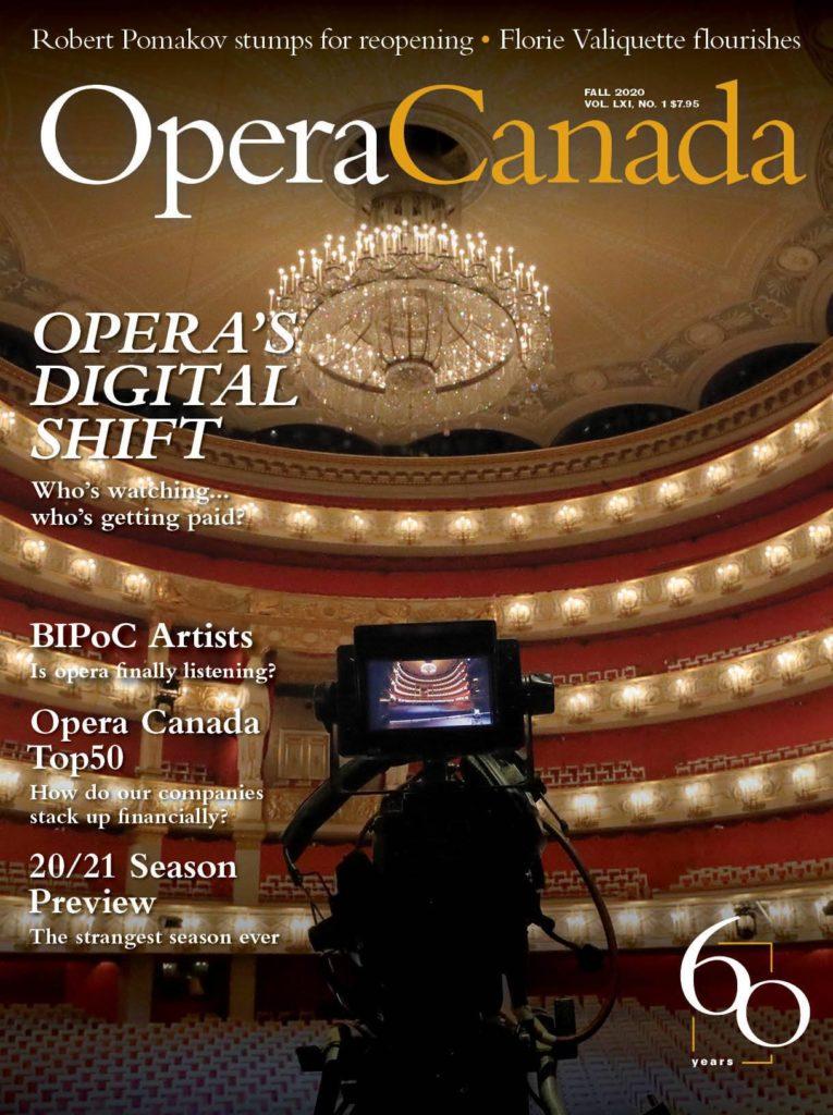 Bayerische Staatsoper, cover, story, feature, digital opera, magazine, Opera Canada, camera, auditorium, Munich, Europe, performance, music