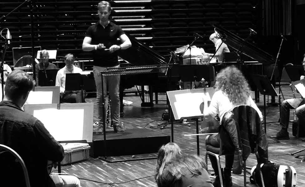 Lee Reynolds, conductor, LPO, recording session, VOPERA, Ravel, London Philharmonic