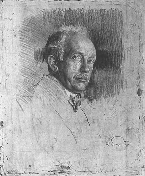 Schmutzer, portrait, sketch, composer, Strauss, German, classical, music