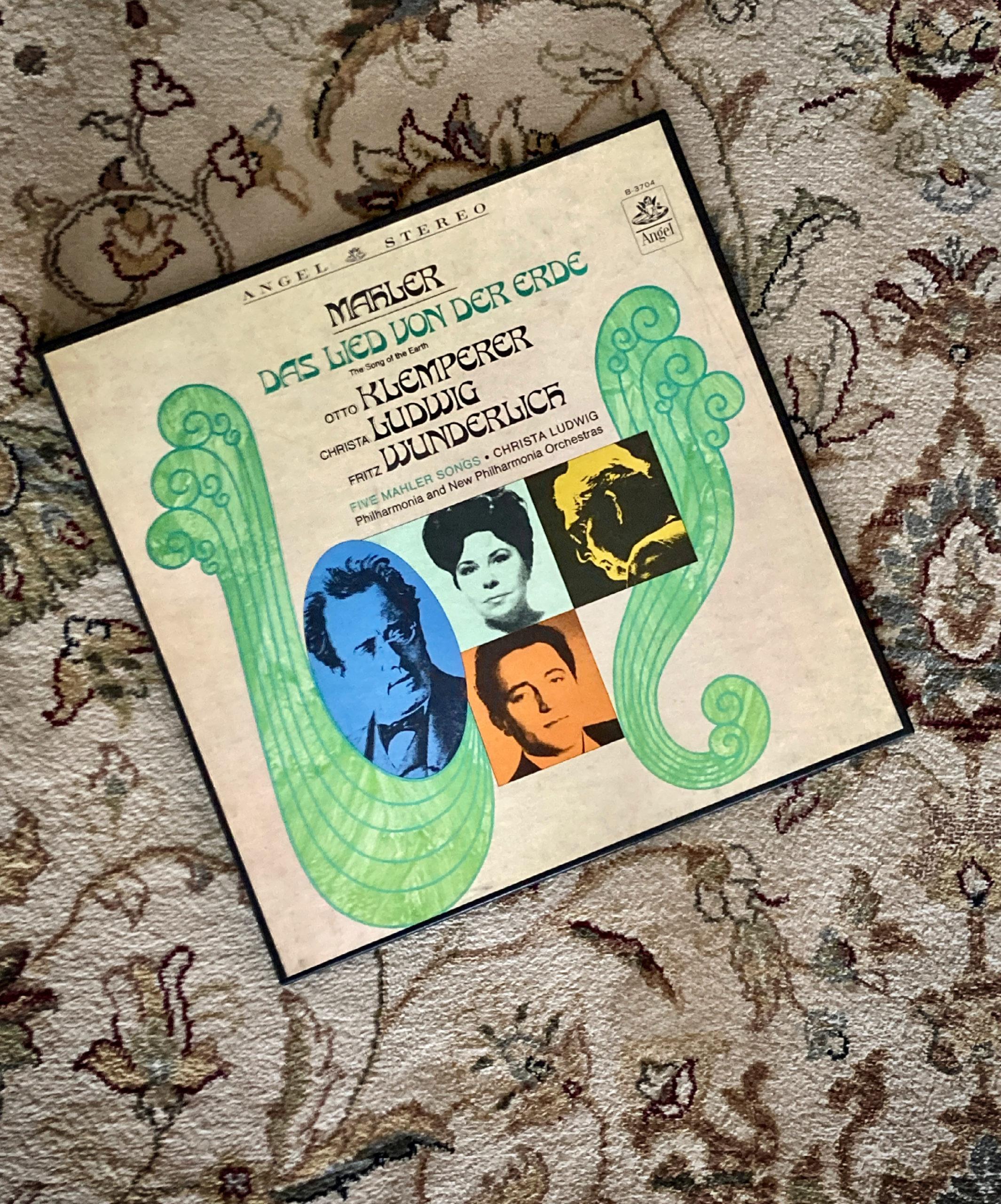 vinyl, record, album, Mahler, Das Lied von der Erde, Klemperer, Ludwig, Wunderlich, Philharmonia, Warner